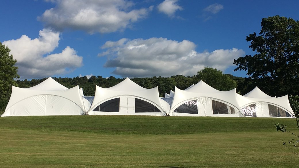 Marquee under Blue Sky